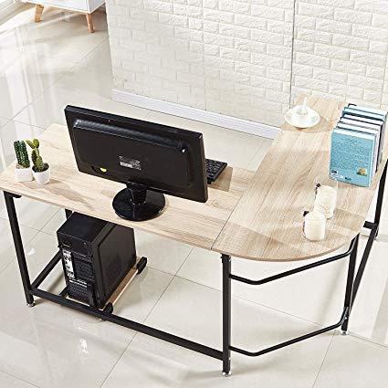 Amazon.com: Hago Modern L-Shaped Desk Corner Computer Desk Home