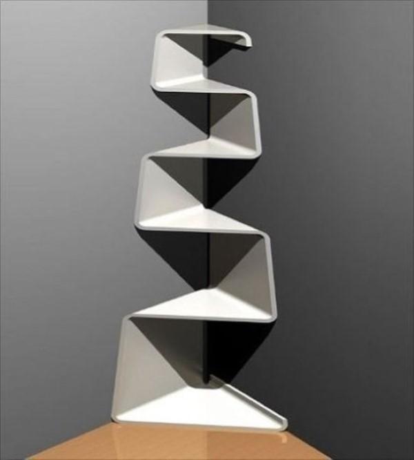 9 Modern Corner Shelf Unit Concepts, Modern Corner Shelf - Bistro