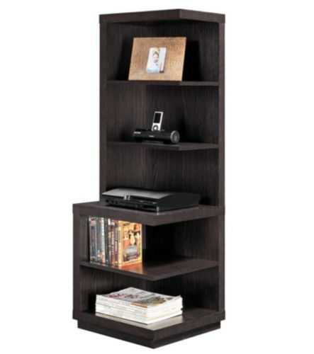 Modern Corner Bookcase With Five Shelves Home Office Furniture