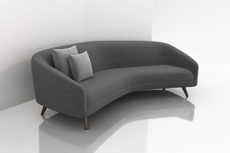 Modern Curved Sofa Beautiful Contemporary theparty With Regard To