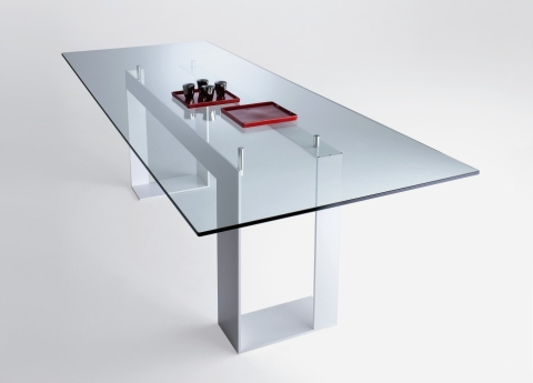 Adorable Modern Glass Table At Miles Dining Contemporary Tables