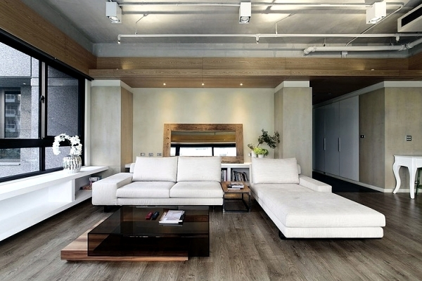 The interior design of modern apartment in an urban style | Interior