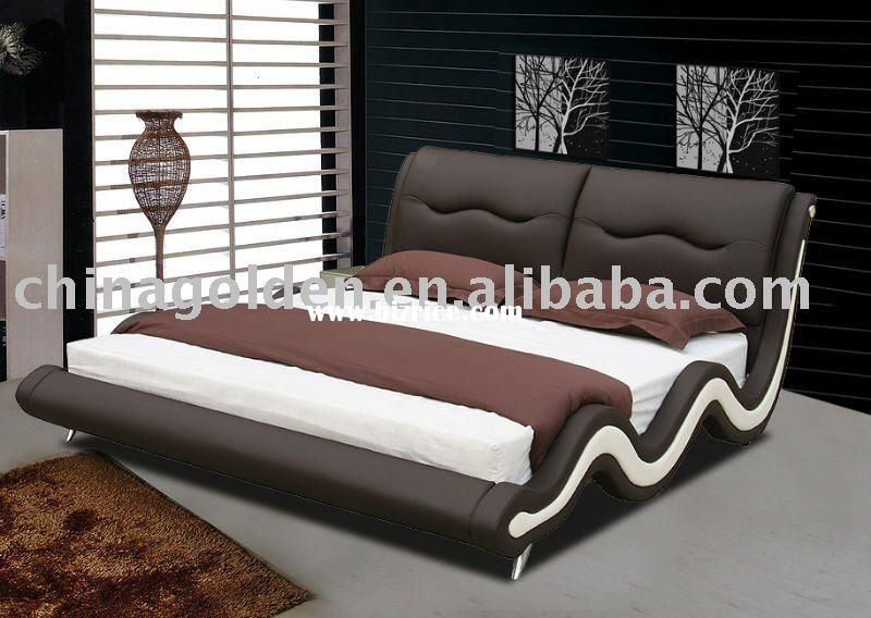 Golden furniture modern king size bed,modern king size leather bed