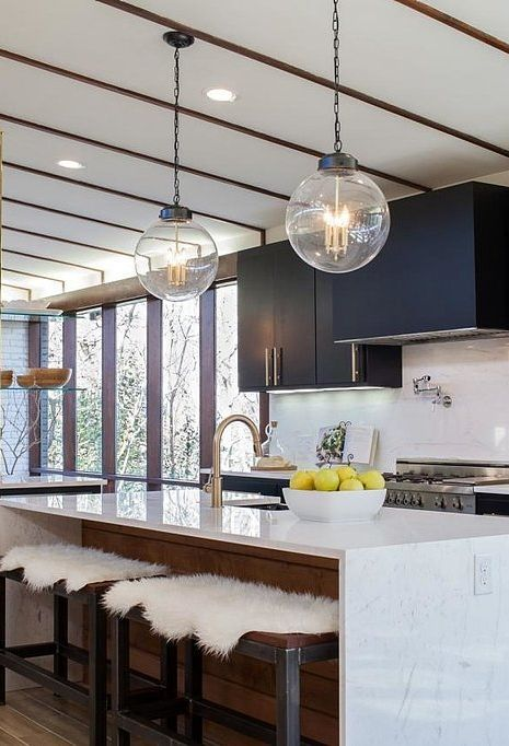 Inspiration Modern Kitchen Light Fixtures cool, clean, and
