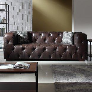 Modern Italian Leather Sofa | Wayfair