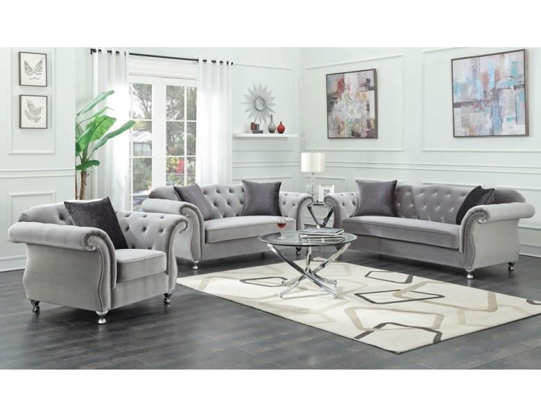 Elva Chesterfield Living Room Furniture