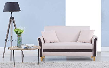 Amazon.com: Divano Roma Furniture Modern 2 Tone Small Space Linen