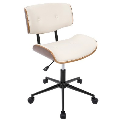 Lombardi Mid-Century Modern Office Chair With Swivel - LumiSource
