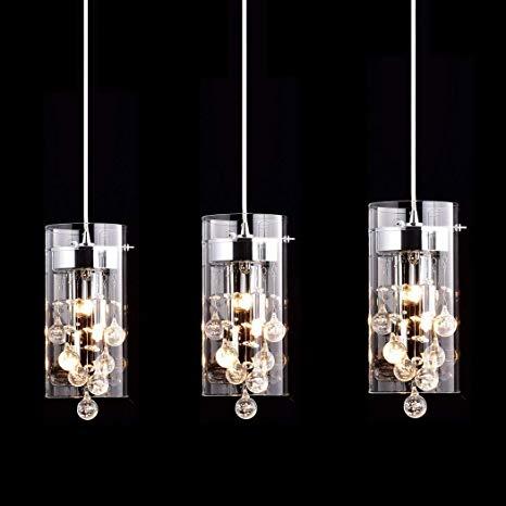 CLAXY Ecopower Lighting Glass & Crystal Pendant Lighting Modern