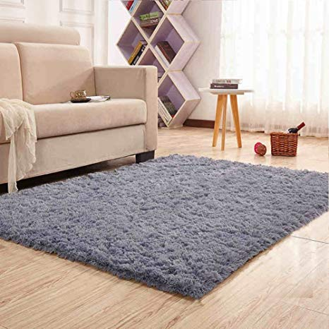 Amazon.com: Noahas Super Soft Modern Shag Gray Area Rugs Fluffy