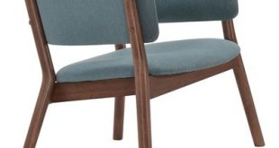 Mid-Century Modern Upholstered And Wood Lounge Chair (Set Of 2