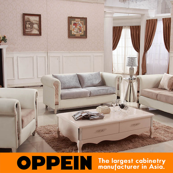 Sofa set living room furniture Modern White Milk High Quality Fabric