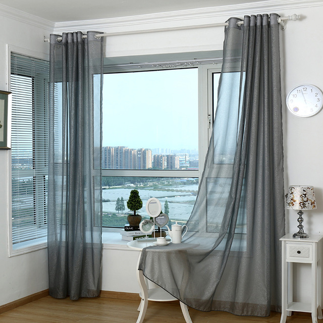 2018 Modern Curtains For Living Room Tulle Window Curtains for