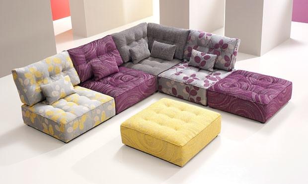 Photo Excellent Alice Modular Fabric Sofa Regarding Sectional Sofas