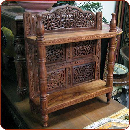 Carved Wall Shelf, Moroccan Furniture, Moroccan Decor