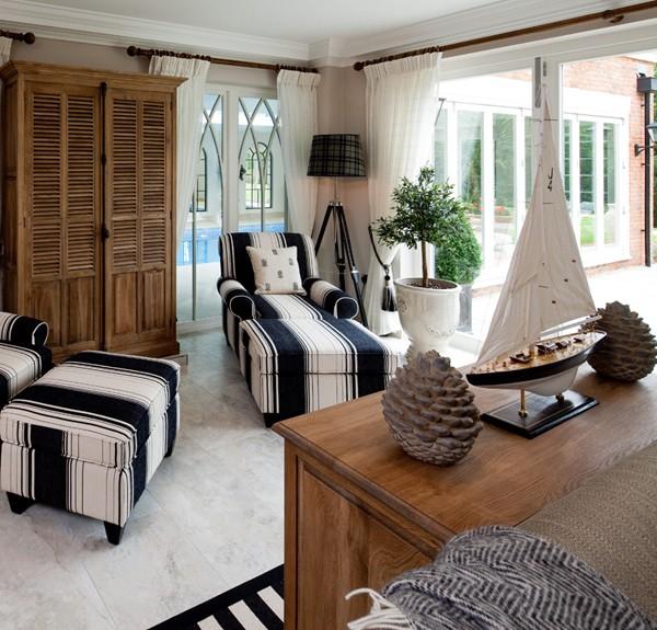 Interior. Contemporary Nautical Home Decor: modern nautical home