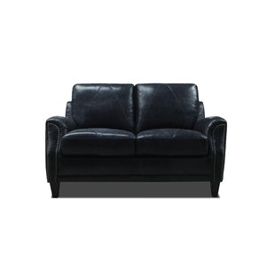 Navy Blue Leather Loveseat | Wayfair