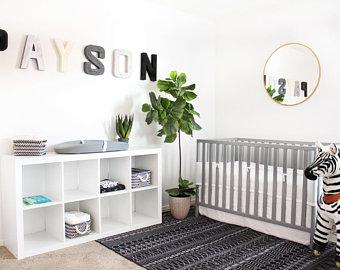 Black nursery decor | Etsy