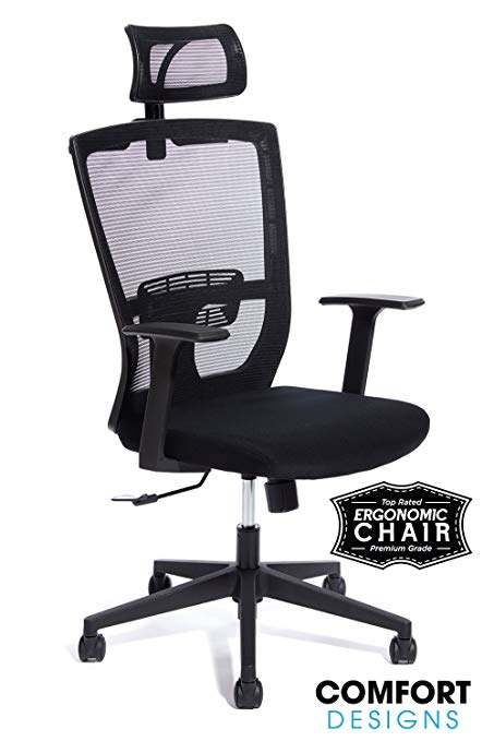 Amazon.com: Premium High Back Mesh Office Chair by Comfort Designs