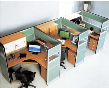 Functional Secretary Office Cubicles Designed For Small Working Area