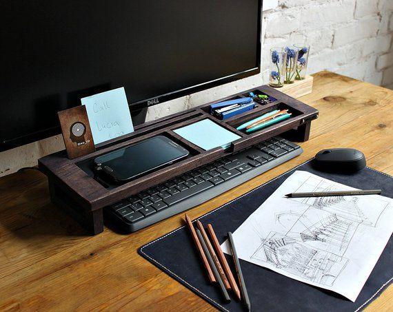 Wood desk organizer u2013 Tray organizer (Exl. col) Office desk