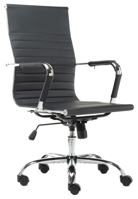 Pearce High-Back Adjustable Office Chair, Black - Contemporary