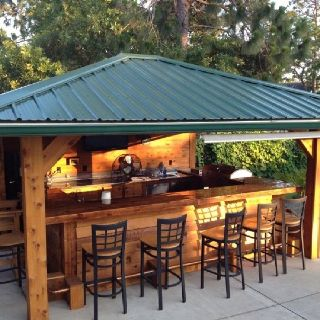 Outdoor kitchen/bar | House | Outdoor kitchen bars, Bar shed