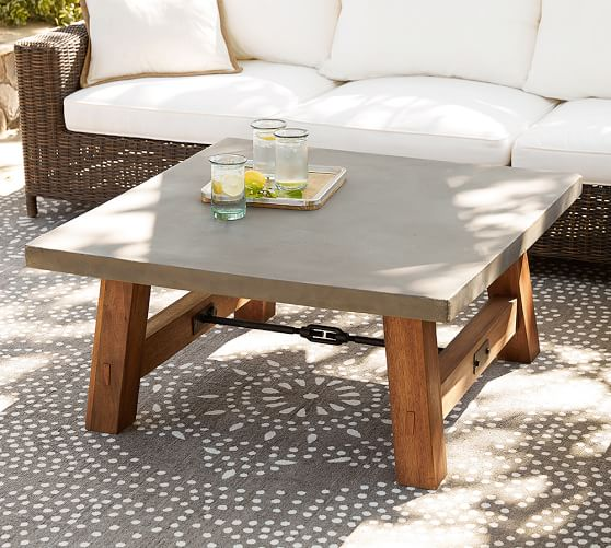 Outdoor Coffee Tables & Patio Coffee Tables | Pottery Barn