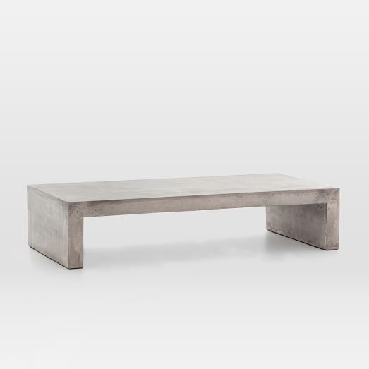 Concrete Waterfall Indoor/Outdoor Coffee Table | west elm