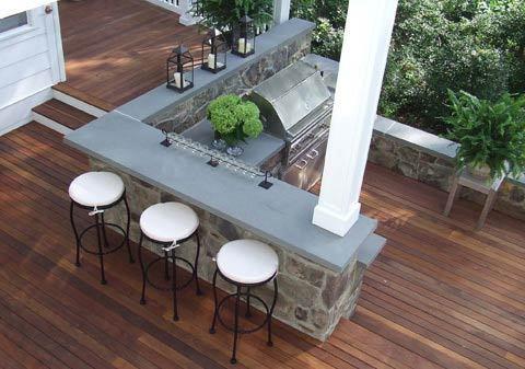 The different outdoor kitchen designs