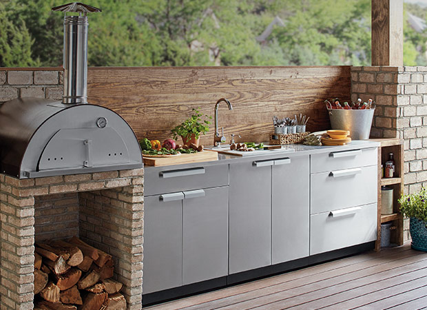 Get an urban lifestyle with outdoor   Kitchen