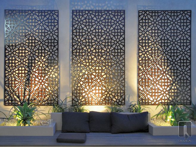 Grail Laser Cut Screen. The Grail Outdoor Wall Art is a contemporary