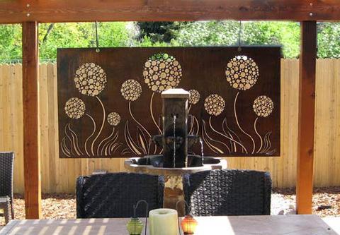Allium Plate Large Outdoor Wall Art Metal - Wall Art Paint on