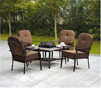 Amazon.com: 5-piece Patio Conversation Set with Fire Pit - Set