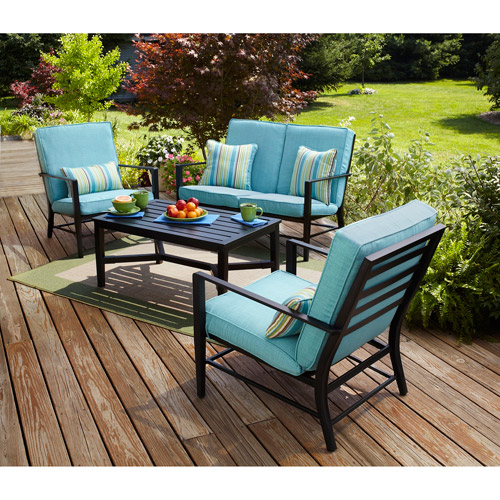 Mainstays Rockview 4-Piece Patio Conversation Set, Seats 4 - Walmart.com