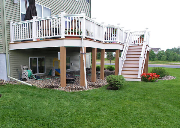 Deck vs Patio | Steps Down From House To Patio | Axel Landscape