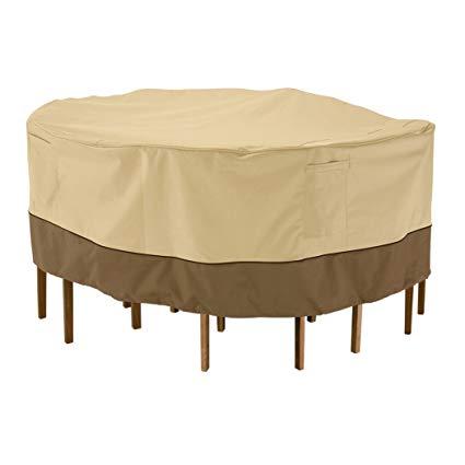 Amazon.com : Classic Accessories Veranda Round Patio Table & Chair