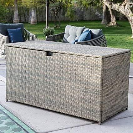 Amazon.com : Deck Box Patio Storage, All-Weather Wicker, 190-Gal