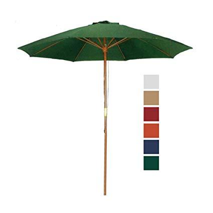 Amazon.com : 9 ft Hunter Green Patio Umbrella - Outdoor Wood Market
