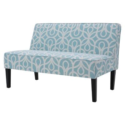 Dejon Loveseat Patterned Azure Blue - Christopher Knight Home : Target