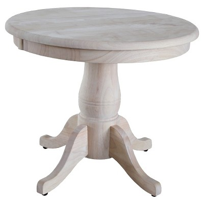 Round Pedestal Table Wood - International Concepts : Target