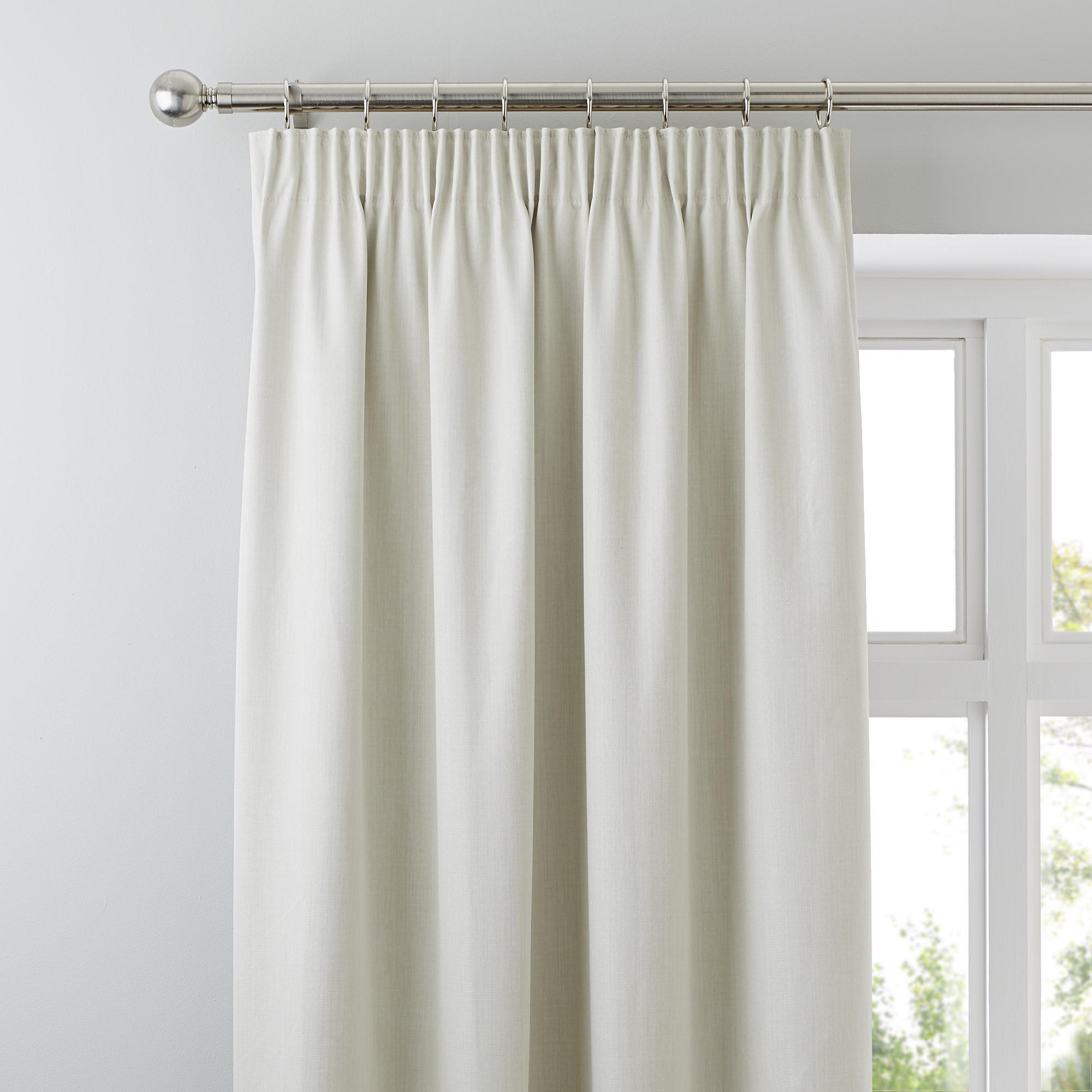Solar Natural Blackout Pencil Pleat Curtains | Dunelm