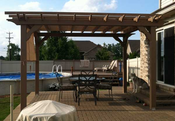 12x20 Wood Pergola Kit, DIY pergola kits at Alan's Factory Outlet