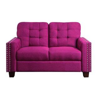 Blush Pink Loveseat   Wayfair