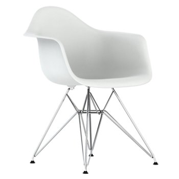 Eames Molded Plastic Armchair With Wire Base by Herman Miller at