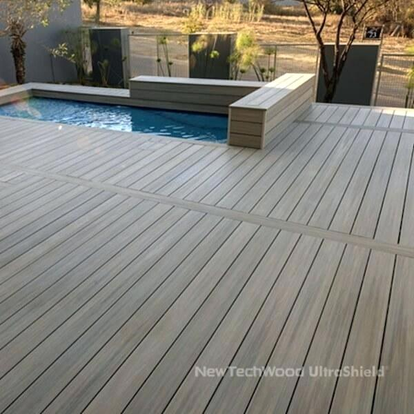 Plastic Deck Solid Swimming Pool Composite Decking Plastic Deck Wood