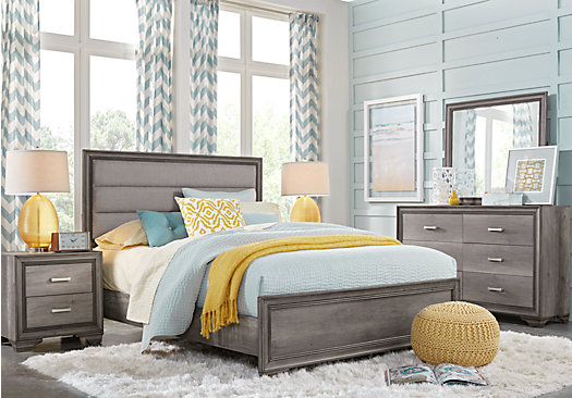 Marlow Gray 5 Pc Queen Panel Bedroom - Transitional