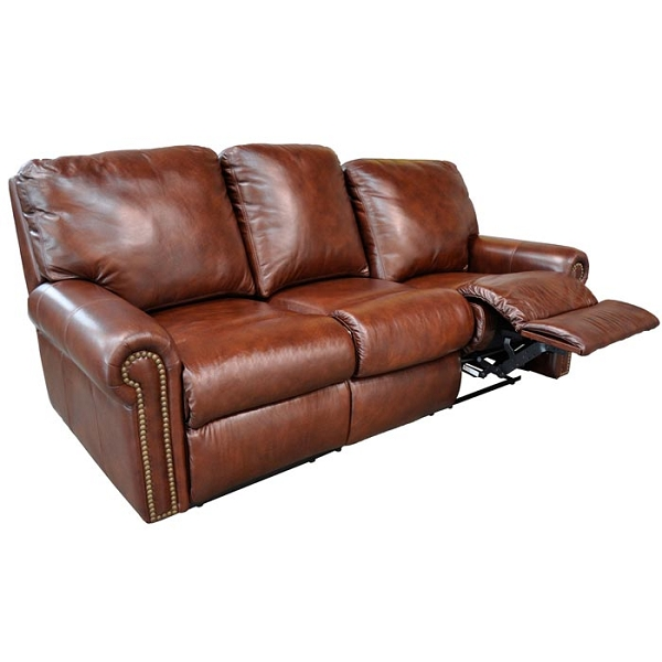Fairmont Reclining Sofa by Omnia Leather (Chaise Footrests)