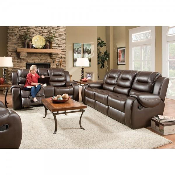 Titan Brown Reclining Sofa & Loveseat : Furniture | Conn's