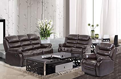 Amazon.com: BestMassage Living Room Sofa Set Recliner Sofa Reclining